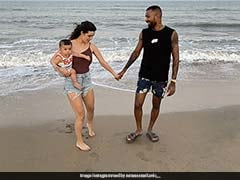 Natasa Stankovic Shares Pictures Of Strolling On The Beach With Hardik Pandya, Son Agastya