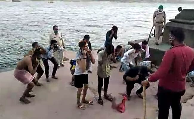 Watch: Men Go For Bath In Madhya Pradesh River, End Up Doing Sit-Ups