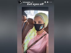 It's Good Vibes Only For Sania Mirza In An Embellished Evil Eye Face Mask And Beaded Chain