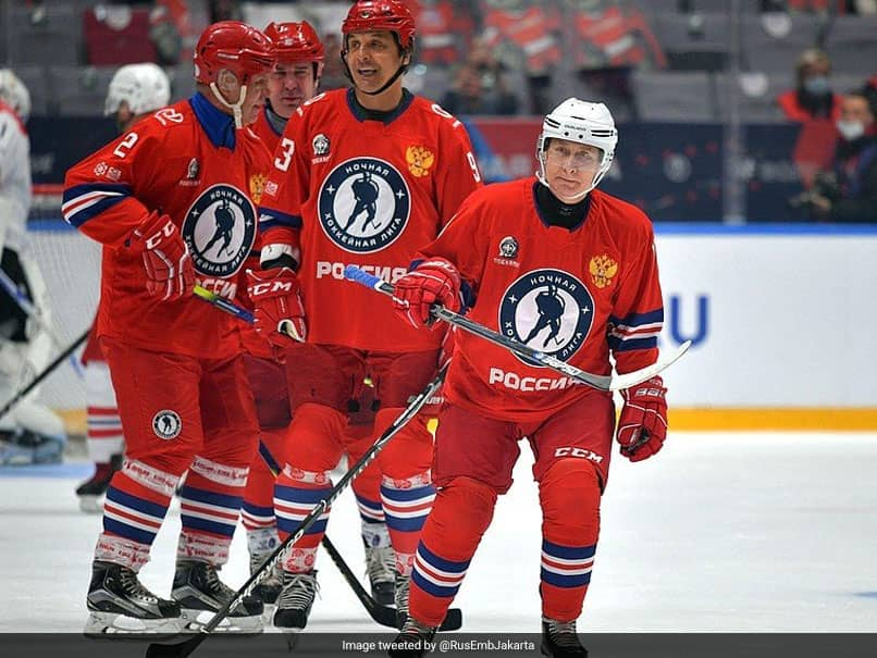Watch: Russian President Vladimir Putin Scores 8 Goals In Ice Hockey Gala Match