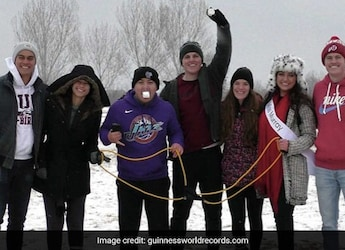 Watch: Duo Set Record For Farthest Marshmallow Propelled And Caught In The Mouth