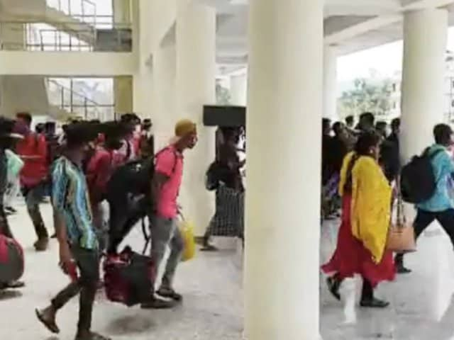 Video : On Video, Hundreds Rush Out Of Assam Train Station To Skip Covid Test