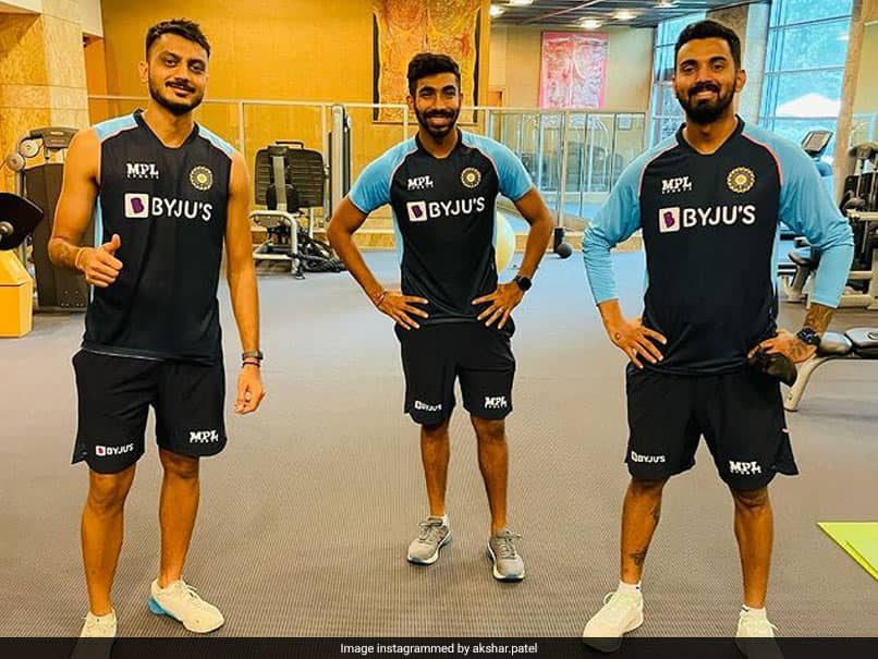 """""""Rise By Lifting Others"""": Axar Patel Posts Gym Photo With Jasprit Bumrah, KL Rahul Ahead Of WTC Final"""