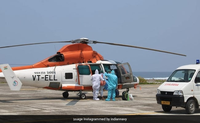 Navy Helps In Evacuating Covid Patient, 75, From Lakshadweep To Kochi