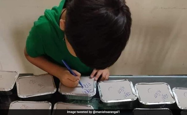 Viral: Boy's Special Message On Meal Boxes Made By Mom For Covid Patients