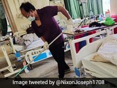 Mizoram Minister Sets Example, Mops Hospital Floors