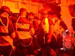 Video: Navy's Searchlights Find Survivors Of Sunken Barge In The Dark