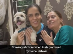 """""""Puppy Love"""": Saina Nehwal Shares Adorable Video With Her Mother And Dog"""