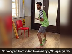 "Watch: Shreyas Iyer's Recovery From Injury A ""Work In Progress"""