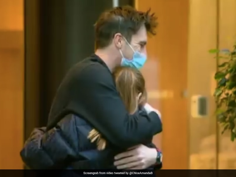 """""""Video Of The Day"""": Pat Cummins Bear-Hugged By Pregnant Partner After Exiting Quarantine In Sydney"""