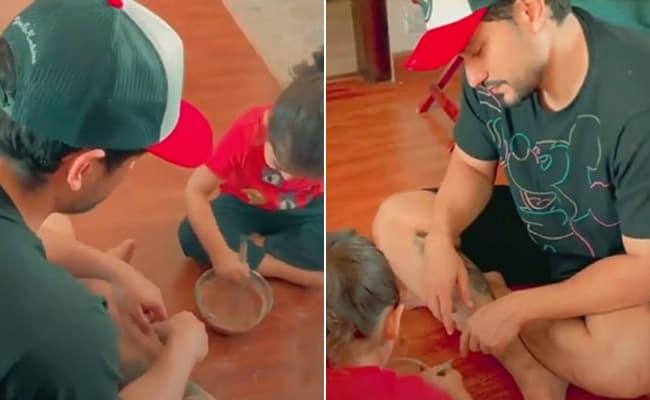 Kunal Khemu's birthday made special by daughter Inaya, viral video