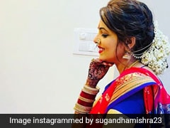 Sugandha Mishra Looks Like A Stunning Maharashtrian Bride In A Red And Purple <i>Nauvari Saree</i>