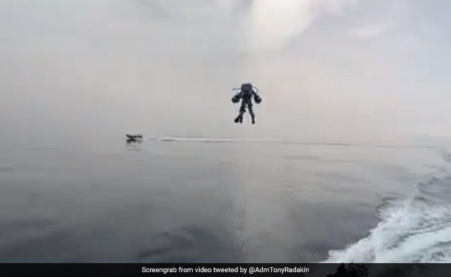 Watch: British Royal Navy Tests Jet Suits That Will Let Officers Fly