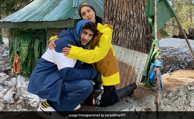 Sara Ali Khan Shares Photo With Brother Ibrahim And Wishes Happy Eid