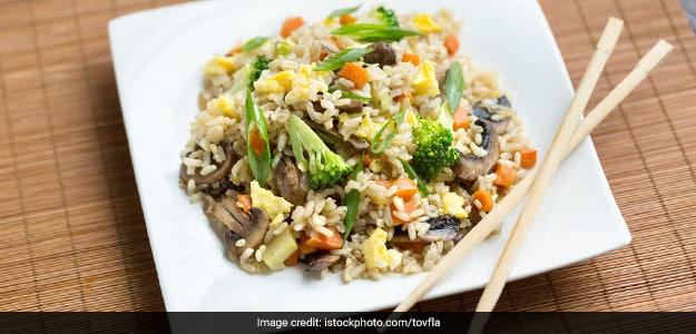 Burnt Garlic Mushroom Fried Rice