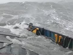Frightening Video Of Tugboat In Rough Seas Before It Was Sunk By Cyclone