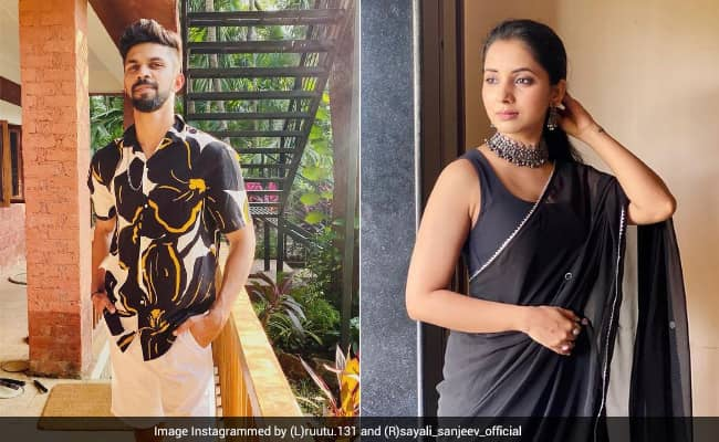CSK star Ruturaj Gaikwad reacts to actress Sayali Sanjeev picture got lovely response from her