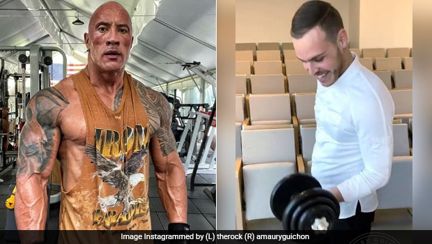 Pastry Chef Makes Chocolate Dumbbell For Dwayne 'The Rock' Johnson's Birthday