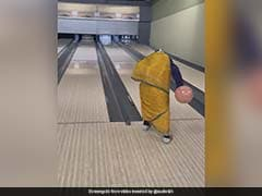 "Watch: ""Grandma"" In Saree Bowls A Strike In Viral Video, Twitter Loves It"