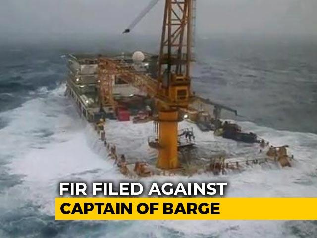 Video : FIR Against Captain Of Barge That Sank Off Mumbai On Survivor's Complaint