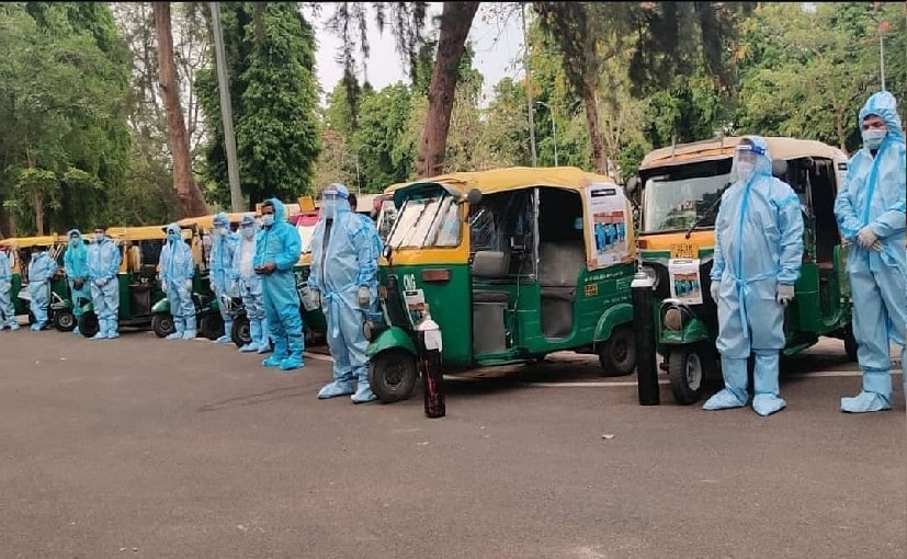 TYCIA And Rajya Sabha Launch Oxygen Cylinder Equipped Auto Ambulance In Delhi