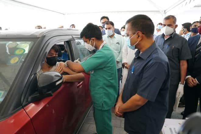 70 Get Jabs On Opening Day Of Delhi's First Drive-Through Vaccination Centre