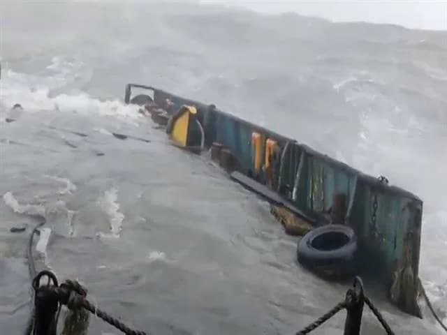 Video : Frightening Pics Of Tugboat In Rough Seas Before It Was Sunk By Cyclone