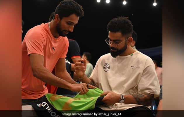 """""""Going To Get This Jersey Framed"""": Azharuddeen Gets Shirt Signed By Kohli"""