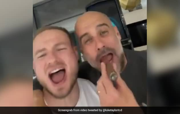 Viral Video: Man City Manager Smokes A Cigar And Belts Out Oasis Hit