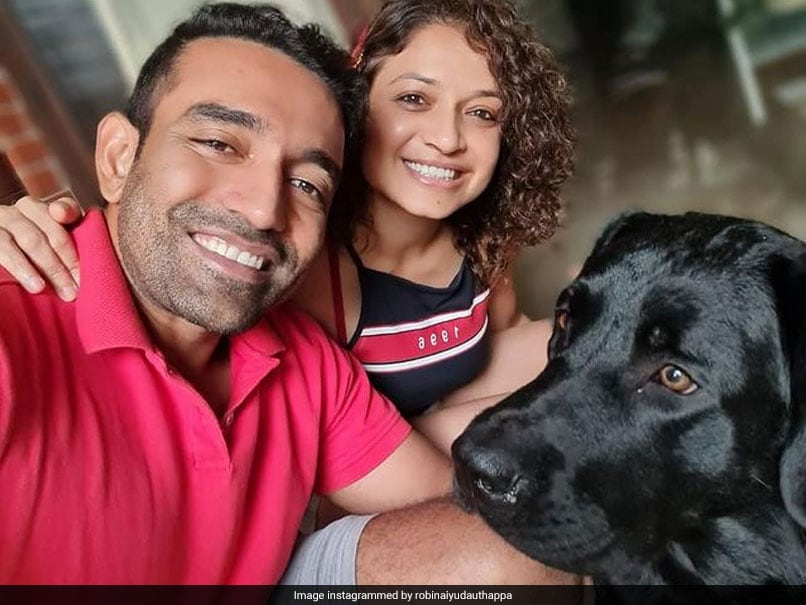 """Robin Uthappa Reunites With His """"Other Munchkin"""" After IPL 2021 Suspension"""