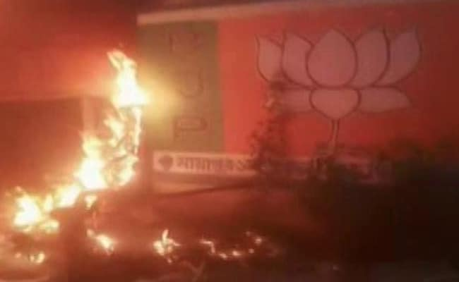 BJP Office Set On Fire In Bengal, Party Blames Trinamool