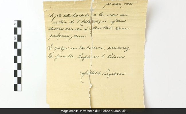 Was This Message In A Bottle Thrown From The Titanic Before It Sank?