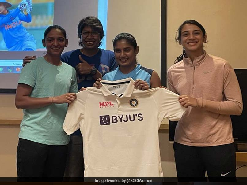 India Womens Team Pose With New Test Kit Ahead Of England Tour. See Pics