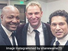 """""""Three Of Us Always Tried Our Best To Entertain"""": Shane Warne Posts Picture With Sachin Tendulkar And Brian Lara"""