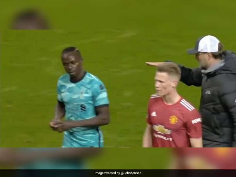 Watch: Liverpools Sadio Mane Refuses To Shake Manager Jurgen Klopps Hand After 4-2 Win Over Manchester United
