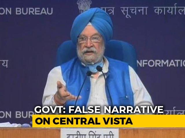 """Video : """"False Narrative..."""": Centre Clarifies on Central Vista, PM House Plan"""