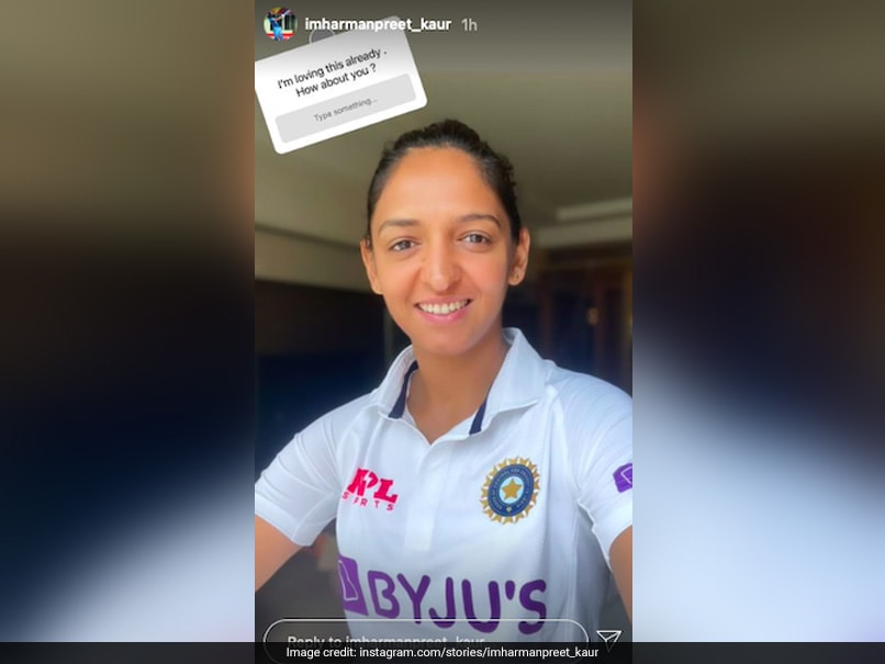 """""""Loving This Already"""": Harmanpreet Kaur Shares Picture Wearing Test Jersey"""