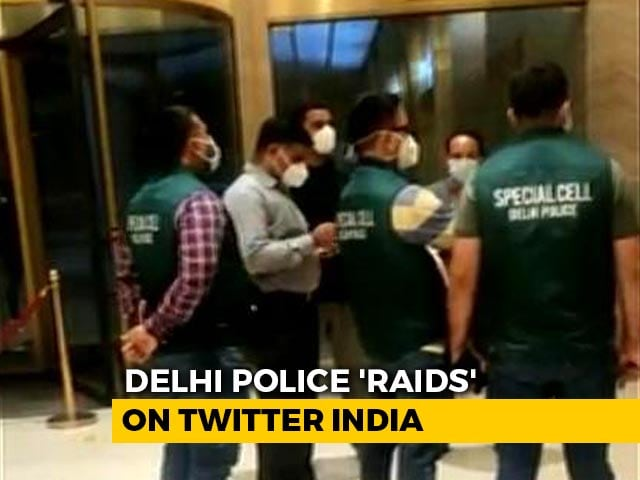 """Video : Delhi Cops Visit Twitter Offices Amid """"Congress Toolkit"""" Row, Find No One"""