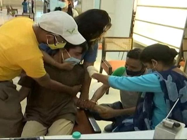 Video : A Mall In Gurugram Organised COVID Vaccination Camp For People With Special Needs