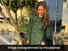 "Sania Mirza And Izhaan Mirza Malik Are ""Twinning And Winning"" In Green Ethnic Suits"