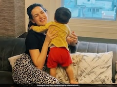 Natasa Stankovic Introduces Son Agastya To His New Buddy