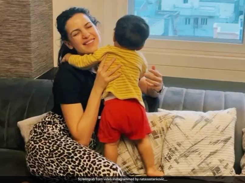 Watch: Natasa Stankovic Hugs Agastya In Cute Instagram Video, Hardik Pandya Showers Them With Love