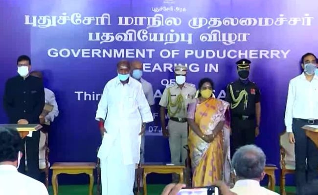 N Rangasamy, NR Congress Chief, Takes Oath As Puducherry Chief Minister