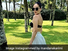 Madana Karimi In A Black Bralette And Maxi Skirt Slays Breezy Summer Style