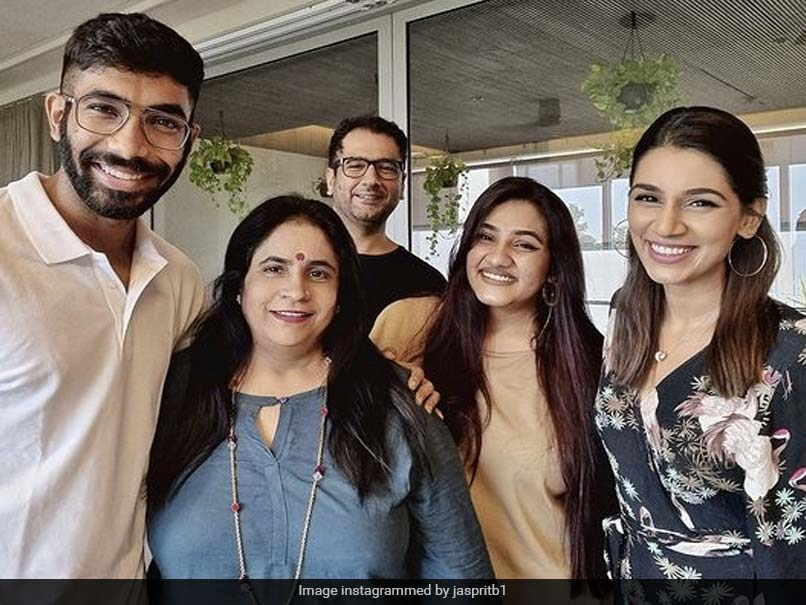 Jasprit Bumrah, Sanjana Ganesan Share Pictures With Family On Instagram