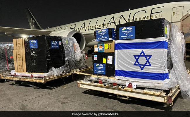 Israel Delivers First Consignment Of Medical Aid To India
