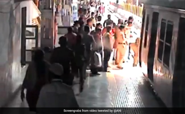 Watch: Railway Cop Rescues Woman From Being Run Over By Train In Mumbai