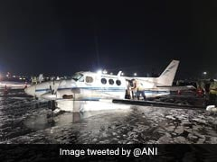 Air Ambulance Lands On Belly At Mumbai Airport After Landing Gear Fails