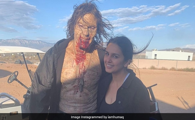 Huma Qureshi Teaches 'Scary Moves' To The Zombie From  Army Of The Dead