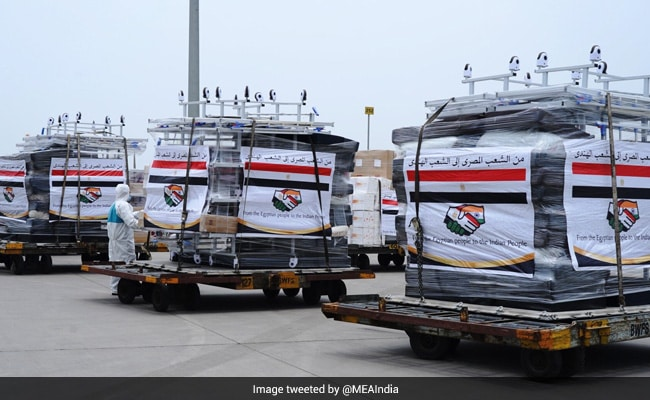Egypt Sends 30 Tonnes Of Covid Medical Aid To India